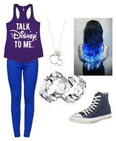 """Talk Disney to me ☄"" by katelyn-dowdy ❤ liked on Polyvore featuring beauty, Belk Silverworks, Disney, Boutique Moschino and Converse"
