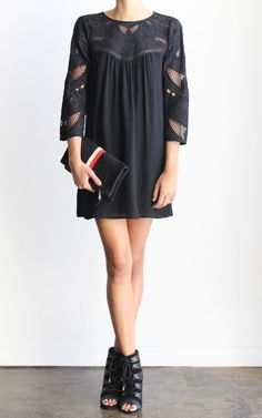 12th Street by Cynthia Vincent Embroidered Yoke Dress