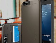 Compatible with the iPhone 6 model, the Spigen® iPhone 6 (4.7) Case Wallet  is a compact device for you to carry your phone and cash with style.
