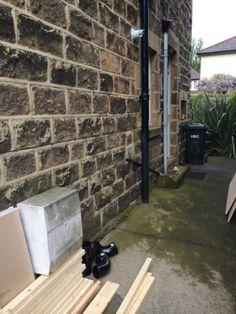 downstairs loo Cast Iron Soil Pipe To Be Replaced With Bathroom Installation In Leeds Downstairs Cloakroom, Downstairs Toilet, Master Bathroom, Understairs Toilet, Bathroom Under Stairs, Small Toilet Room, Veneer Door, Plastic Alternatives, Toilet Cistern