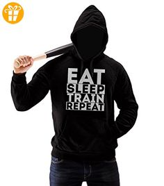 Eat Sleep Train Repeat Motivation Herren Pullover Hoodie XL (*Partner-Link)