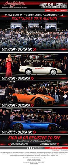 Subscribe to Newsletter- Barrett-Jackson Auction Company - World's Greatest Collector Car Auctions Classic Sports Cars, Classic Cars, Car Insurance Tips, Subscribe Newsletter, Barrett Jackson Auction, Collector Cars, The World's Greatest, In This Moment