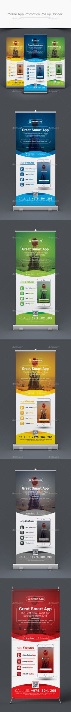 #Mobile #App Promotion Roll-up Banner