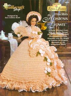 Barbie Crochet,Priscilla's Hostess Gown, pattern:  http://knits4kids.com/collection-en/library/album-view?aid=10717