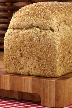 Bread Machine 9 Grain Bread Recipe from CDKitchen 9 Grain Bread Recipe, Whole Grain Bread Machine Recipe, Bread Machine Recipes Healthy, Best Bread Machine, Artisan Bread Recipes, Bread Maker Recipes, Whole Grain Breadmaker Recipe, Cereal Bread, Rhubarb Desserts