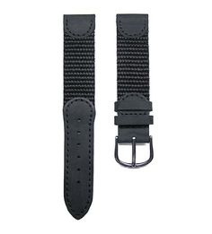 17mm TIMEWHEEL® Black Leather & Nylon Watch Band Fits Victorinox Swiss Army Original Series Small 24240, 24241 & 24379. Custom Manufactured TIMEWHEEL Brand Replacement Meets All OEM Specs Requirements. Hard to Find Replacement Band for Swiss Army Small Original Series Models. End to End Length 6.7 inches (105mm / 65mm) Excluding Buckle. RoHS Compliant Stainless Steel Polished Buckle. Free Pair Stainless Steel Spring Bar.