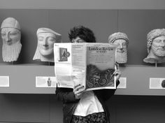 Megan getting her head around the LRB at the British Museum