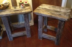 Reclaimed Wood End/Side Tables