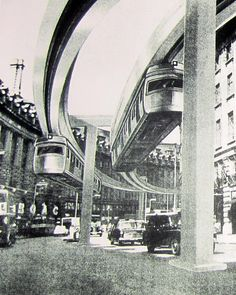 How cool is this image of a Monorail scheme in Regent's Street, London? not cool, looks vile and would have ruined the fantastic views from picadilly circus Rail Transport, London Transport, Travel English, Cathedral Architecture, S Bahn, London History, Retro Futuristic, London Underground, Old London