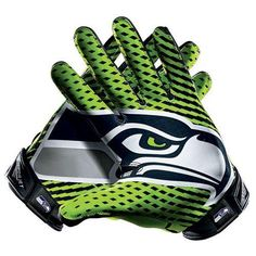 Men's Nike Seattle Seahawks Vapor Jet 2.0 Gloves