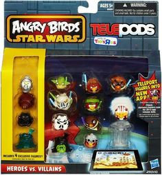 Angry Birds - Birthday, Party & Toys - Angry Birds GO! Telepods Exclusive Birds Pack Heroes vs Villains; PREVIEW: http://audrey6.x30.us/reviews-viewer/index.htm?url=http://www.amazon.com/dp/B00GR3FG3U?tag=angry_birds_plush_toys_games_store_sale-20