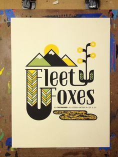 John Knoerl es otro de los diseñadores destacados en nuestros posts sobre pósters de música. Indie. Fleet Foxes.