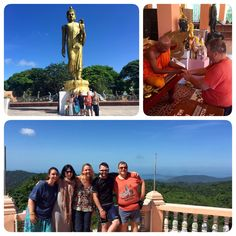 Temple Visit at Dipangkorn Temple on top on the mountain in #KohSamui