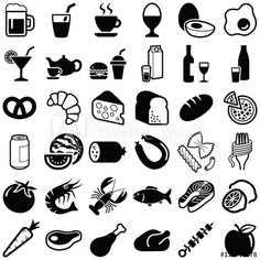 Drink Icon, Plane Design, Food Icons, Art Drawings Sketches Simple, Icon Collection, Pictogram, Food Illustrations, Glyphs, Cover Photos