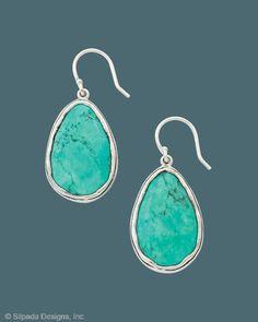 Silpada - Make a Splash Earrings: French wire hoops, howlite, sterling silver