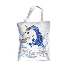 Unicorn Shopper Bag - I Don't Believe in Humans #Unicorn #Shopper #Don't #Believe #Humans