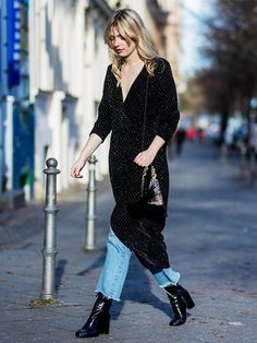 3 Ways to Dress Up Your Jeans for Holiday Parties via @WhoWhatWear