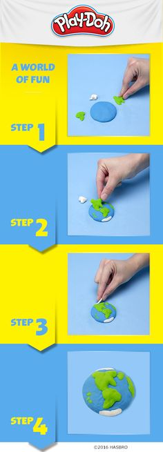 Have your kids build up their geography skills by making a Play-Doh compound…