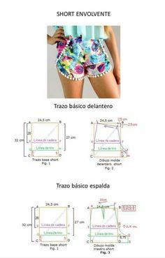 Underwear Pattern, Lingerie Patterns, Dress Sewing Patterns, Clothing Patterns, Casual Xl, Sport Casual, Casual Shorts, Sewing Bras, Sewing Shorts