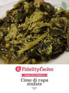 Cime di rapa stufate Frittata, Italian Recipes, Whole Food Recipes, Rap, Menu, Pasta, Traditional, Chicken, Healthy