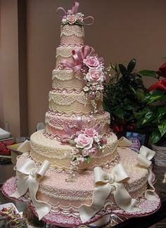 Indian Weddings Inspirations. Pink Wedding Cake. Repinned by #indianweddingsmag indianweddingsmag.com #vintage #classic