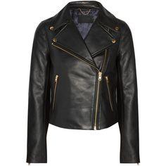 J.Crew Leather biker jacket (€335) via Polyvore featuring outerwear, jackets, black, j crew jacket, leather moto jacket, crew jackets, asymmetrical zipper jacket и asymmetrical zip leather jacket