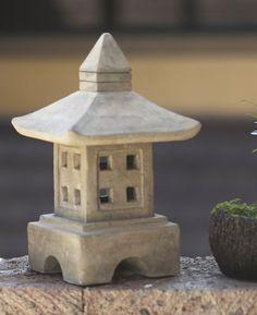 Japanese Style Zen Garden Lantern - Cast Stone