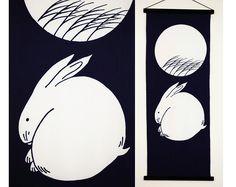 Items similar to Japanese bunnys indigo blue fabric tenugui , cotton rabbits indigo blue fabric, tenugui kawaii fabric, indigo blue Japanese fabric on Etsy Japanese Waves, Japanese Fabric, Indigo Blue, Decorative Pillow Covers, Fabric Panels, Blue Fabric, Vintage Japanese, Bunny, Kawaii