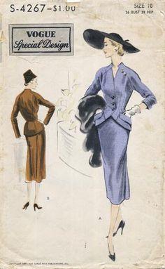Vogue S-4267, ca 1952; Sz 14/Bust 32