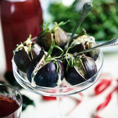 Grillade fikon med gorgonzola