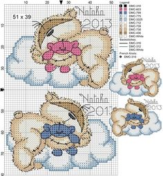 ♥embroidery designs →cross stitch pattern♥ by SoEasyPattern Baby Cross Stitch Patterns, Cross Stitch For Kids, Cross Stitch Baby, Cross Stitch Animals, Cross Stitch Charts, Cross Stitch Designs, Cross Stitching, Cross Stitch Embroidery, Embroidery Patterns