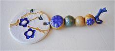 """Conjunto de cerámica """"Flores azules"""" de MAJOYOAL por DaWanda.com"""