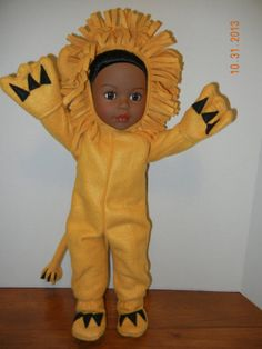 Adorable Fleece LION costume 18 inch dolls - Part of my Animal Collection for dolls!