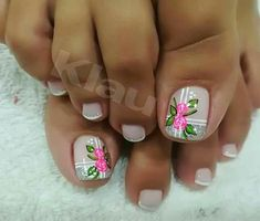 en a orden er Toenail Art Designs, Pedicure Designs, Toe Nail Designs, Cute Toe Nails, Toe Nail Art, Pretty Nails, Cute Pedicures, Manicure And Pedicure, Feet Nail Design