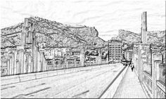 En el Puente de San Jorge. Al fondo el Barranc del Sinc