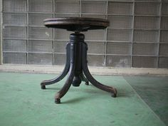 antique black wooden Thonet piano stool nice item www.zozo.tv      Made by Thonet in the early part of the 1900's. Stool sits flat, functions as intended.  Free shipping. Nice stool.   If your interested in this item contact Jam@iamjam.net Deal direct through PayPal and pay less, make me an offer
