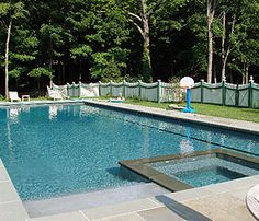 Pool Designs With Spa rectangle pools with spas | rectangular pool & spa with glass tile