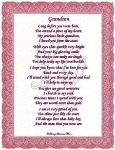 PIN IT HAPPY BIRTHDAY GRANDSON 20 | Free Happy Birthday Grandson Cards | Grandson poem is for the grandson ...