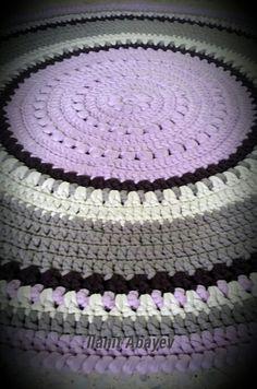 שטיח שסרגתי בגווני סגול וחום מחוטי טריקו Crochet Rug Patterns, Rugs, Home Decor, Homemade Home Decor, Types Of Rugs, Rug, Decoration Home, Crochet Blanket Patterns, Carpets