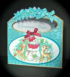 Card Gallery - Snowmen Christmas Wishes Aperture Decoupage Card Mini Kit