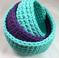 Using t-shirt yarn, make these three baskets in a night or two to hold all your little notions. Lefties Click Here. Download the pattern below the video. Nesting Bowls Free Crochet Pattern Download