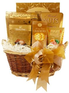 Gold Small Snack Gift Basket