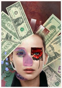 hannah hoch - Google Search i like how she has incpupriated diffirent colors to make up the face.