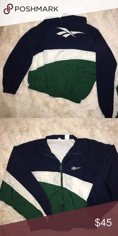 896697db674451 Reebok vintage Windbreaker men s jacket Preowned condition men s size  medium Reebok Jackets   Coats Windbreakers