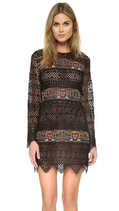 BCBGMAXAZRIA Banded Long Sleeve Dress