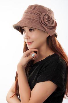 2014 nuevo otoño y el invierno gorro de lana sombrero fedora mujer Moda  sombreros flores 1100 7afa5c0b289