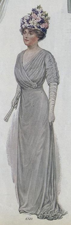 1914, Ladies Home Journal mother of the bride dress example | Idea for a formal version of Butterick 6093