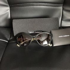 Dolce and Gabbana Cat Eye sunglasses Comes with case and carts in perfect condition. Trade value higher Dolce & Gabbana Accessories Sunglasses