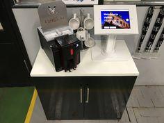 iPad Stand and Printer setup at Velden Engineering UK Ltd Ipad Stand, Kiosk, Espresso Machine, Printer, Coffee Maker, Engineering, Kitchen Appliances, Home, Espresso Coffee Machine