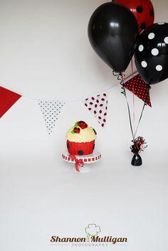 Bunting by Pink Elephants & Lemonade by BuntingPinkElephants 1st Birthday Party Themes, Birthday Fun, Birthday Ideas, Ladybug Smash Cakes, Cake Smash, Lady Bug, Ladybug Party, Fabric Bunting, Pink Elephant